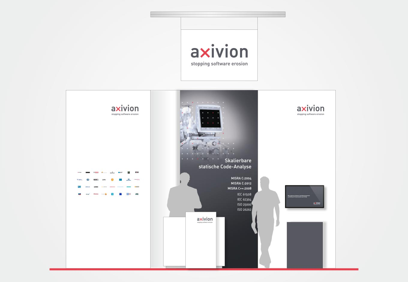 Embedded World Messegrafik für axivion, quintessence design Stuttgart