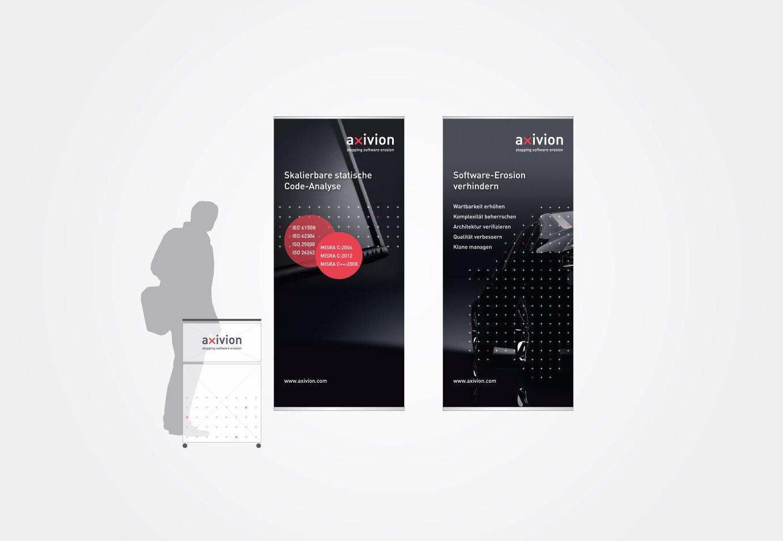 ESE Kongress Messebanner für axivion, quintessence design Stuttgart