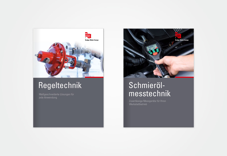 Produktkataloge für Badger Meter Europa, quintessence design Stuttgart