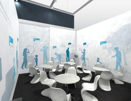 Messestand, Messegrafik für Badger Meter Europa, quintessence design Stuttgart