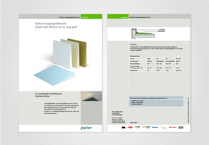 Datenblatt, Corporate Design