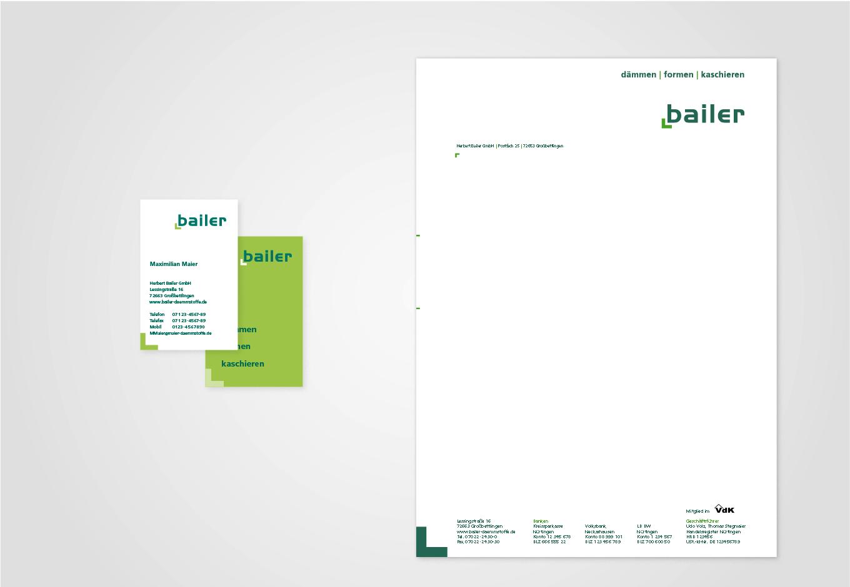 Geschäftsausstattung Bailer GmbH, quintessence-design.de
