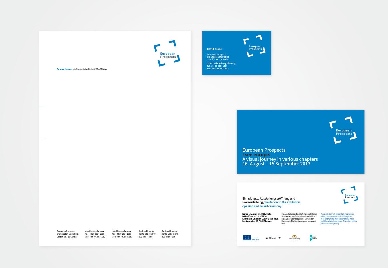 Briefpapier und Visitenkarte, European Prospects, quintessence design Stuttgart