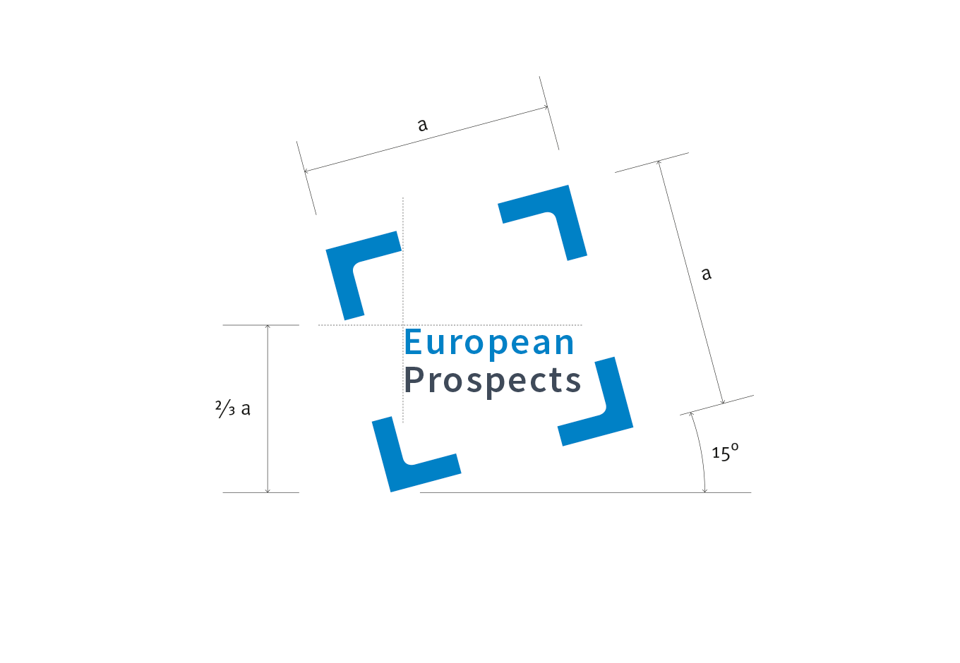 Logo European Prospects, quintessence design Stuttgart