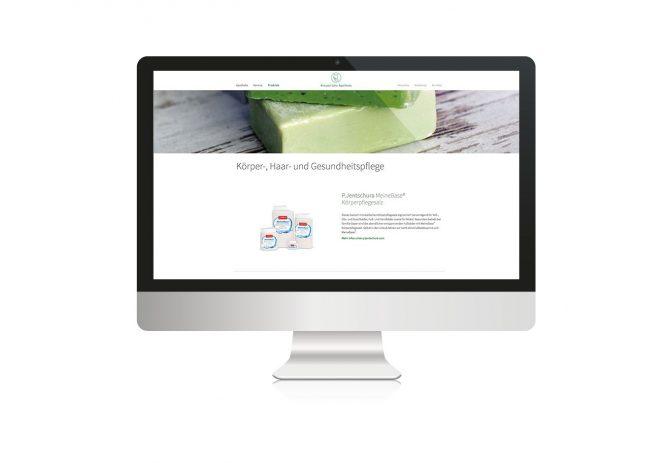 Kreusersche Apotheke Website, quintessence design Stuttgart