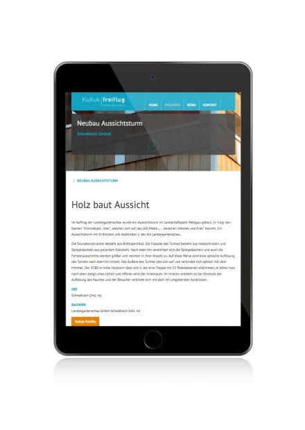 KuKuk Freiflug, Website