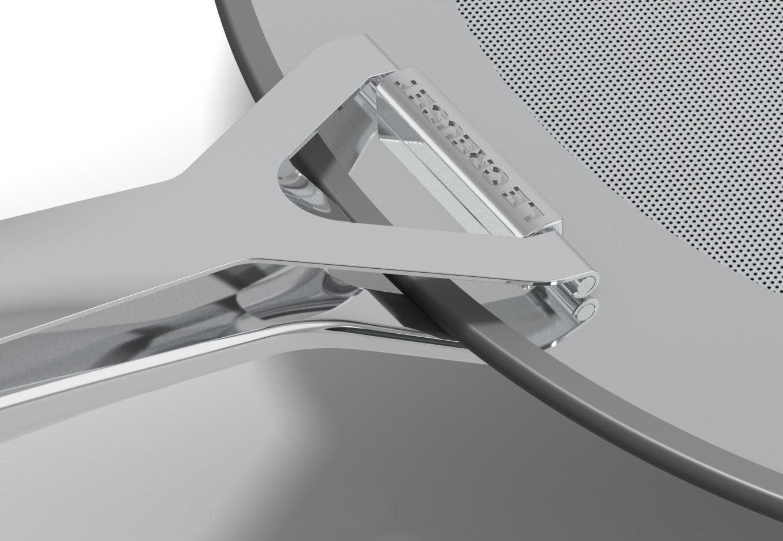 Edelstahl Spritzschutz für Le Creuset SAS, quintessence design Stuttgart